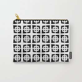 Mid Century Modern Pattern 272 Black and White Carry-All Pouch