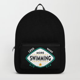 Swimming Swim Gifts Backpack