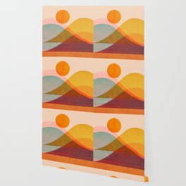 Abstraction_SUNSET_LANDSCAPE_POP_ART_Minimalism_018X Wallpaper