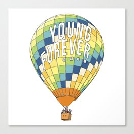 young forever Canvas Print