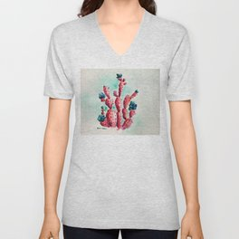 The Strawberry Cactus Patch Unisex V-Neck