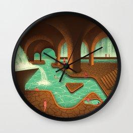 Secret Thermal Baths Wall Clock