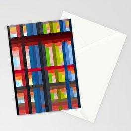 geometric retro colorful Naiad Stationery Cards