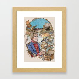 The Melancholic Meriwether Lewis Framed Art Print