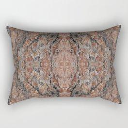 Wood Texture Kaleidoscope Rectangular Pillow