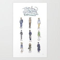 Tomboy Heroes of the Cinema Art Print