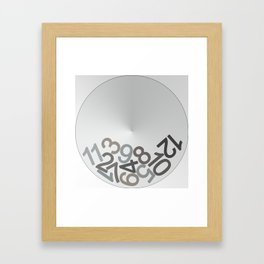 clock digits Framed Art Print