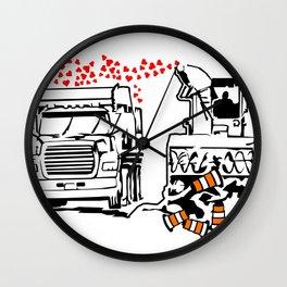 La Souffleuse Montrealaise Wall Clock