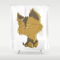 terrier Shower Curtains featuring Terrier by thinkgabriel