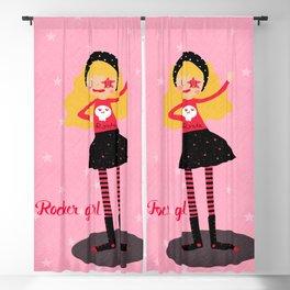 Rocker girl Blackout Curtain