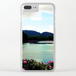 Mountain Flowers Clear iPhone Case