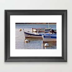 French boats - St Marc 6976 Framed Art Print