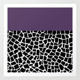 British Mosaic Purple Boarder Art Print