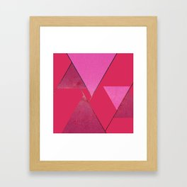 Pink Star Triangles 01 Framed Art Print