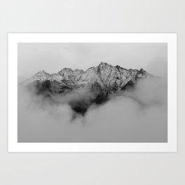 Mountains (Black and White) Art Print