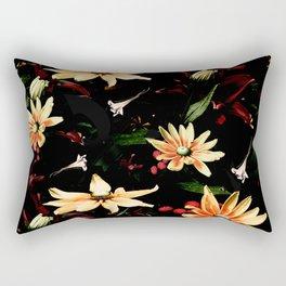 Floral Night II Rectangular Pillow