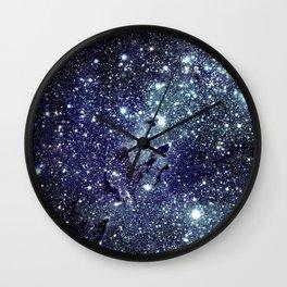 The Eagle Nebula / Pillars of Creation Midnight Indigo Teal Blue Wall Clock