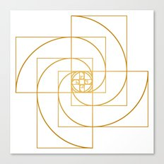 Golden Pinwheel Canvas Print
