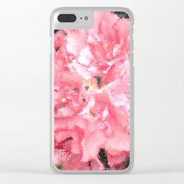 Flower Mosaic Millennial Pink Clear iPhone Case