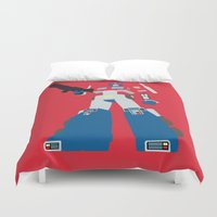 optimus prime Duvet Covers featuring Transformers G1 - Optimus Prime by TracingHorses