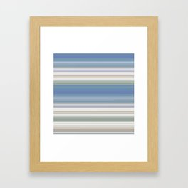 Blue and Neutral Color Stripe Design Framed Art Print