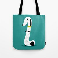 dog Tote Bags featuring Dog by Maria Jose Da Luz