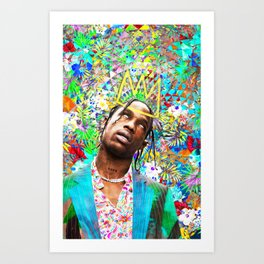 Travis portrait artwork Art Print