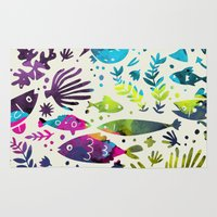 under the sea Area & Throw Rugs featuring Under The Sea by 83 Oranges™