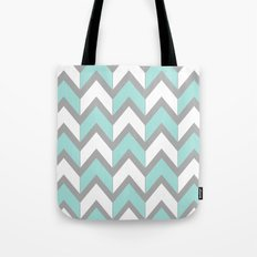 Minty Chevron Tote Bag