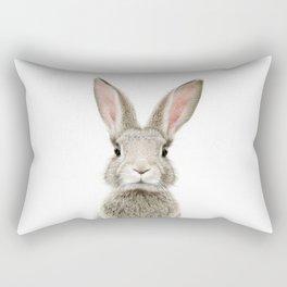 Bunny Portrait Rectangular Pillow