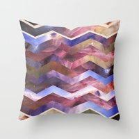 sagan Throw Pillows featuring We are all made of stars by Nika