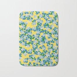 Summer Flowers Yellow Bath Mat
