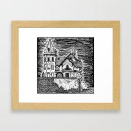 The Italian Lake Palace Framed Art Print