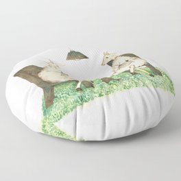 Sheep knitting Floor Pillow