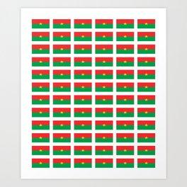 Flag of burkina faso- burkinabe,mossi,fula,ouagadougou,dioula,bobo-dioulasso,sahel,voltaic. Art Print