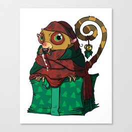 Christmas Present Tarsier Canvas Print