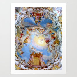 Wieskirche Heaven's Gate Art Print