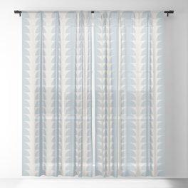 Maude Pattern - Blue Sheer Curtain
