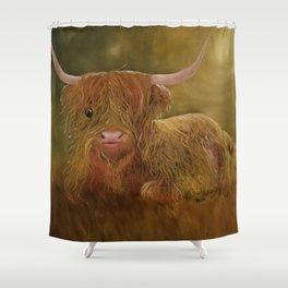 Highland Cow, Scotland Cow, Cute Highland Cow, Scotland Highlands Cow, Ferdinand, Cute Cow, Hairy Co Shower Curtain
