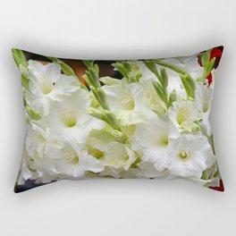 Lovely white gladiolas Rectangular Pillow