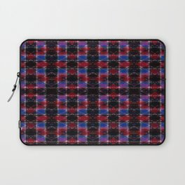Cart Handle Semi-Plaid In Red, Pink, Blue, and Black Laptop Sleeve