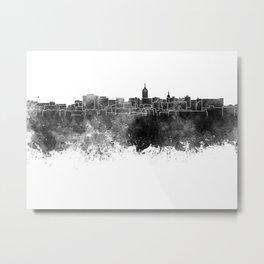 Lansing skyline in black watercolor Metal Print