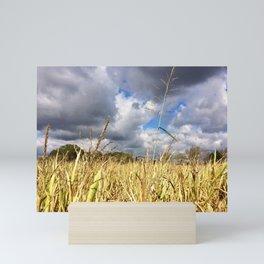 Clouds Rolling Over the Cornfield by Smokies Art Mini Art Print