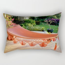 Tropical Caribbean Island Resting  Rectangular Pillow