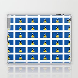 Sainte lucieFlag of Saint Lucia-Saint Lucia,Sainte Lucie,Saint Lucian,Lucien,Castries. Laptop & iPad Skin