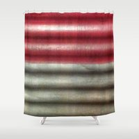 industrial Shower Curtains featuring 🔵 Industrial Wall by Tru Images Photo Art