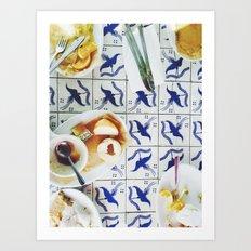 china blue Art Print
