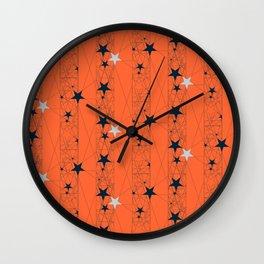 Orange Juice Stars Wall Clock