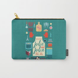 Julie and Julia, minimal movie poster, Meryl Streep, Amy Adams, Nora Ephron film, Julia Child, cook Carry-All Pouch