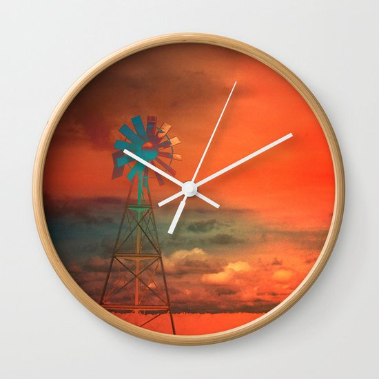 Red Sky at Night Wall Clock